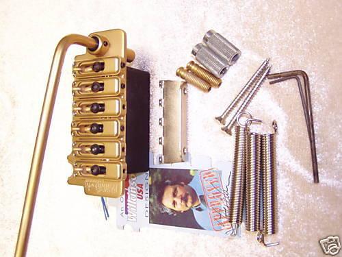 Wilkinson VS100 Tremolo Trem gold Bolzenbreite 56,8 mm Gitarrenbau 10,8 mm Saite