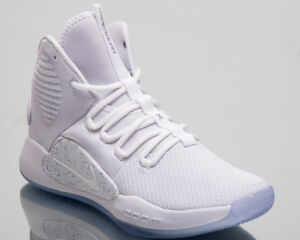 sports shoes 9ddb4 b9a55 Image is loading Nike-Hyperdunk-X-Sneakers-White-Light-Grey-Silver-