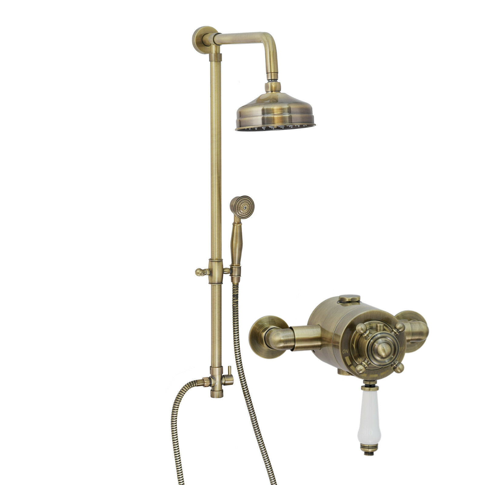 Enki concentriques douche thermostatique set Classic 15 Antique Bronze Main Claremont