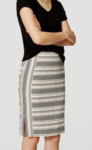 Ann Taylor LOFT Mosaic Stripe Pencil Skirt Various Sizes NWT Warm Ecru Color