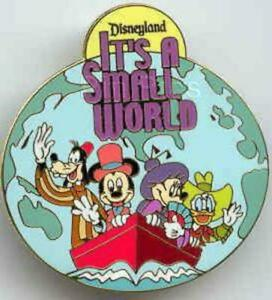 Disney-Collectible-Pin-20759-DLR-Attractions-It-039-s-a-Small-World-FAB-4-Mickey