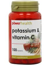 Power Health Potassium 200mg + Vitamin C - 100Tabs