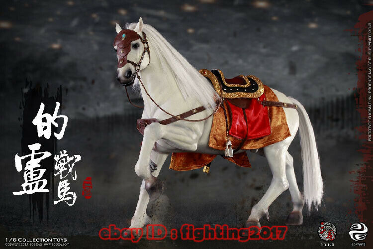 1 6 303 TOYS NO.120 tres reinos Liu Bei Caballo De Guerra Antiguo Juguetes modelo de los caballos