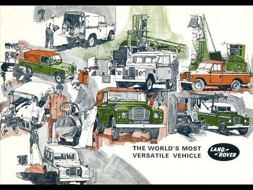 LAND ROVER  SERIES-III /'88/' /& /'109/' RETRO POSTER BROCHURE CLASSIC ADVERT A3