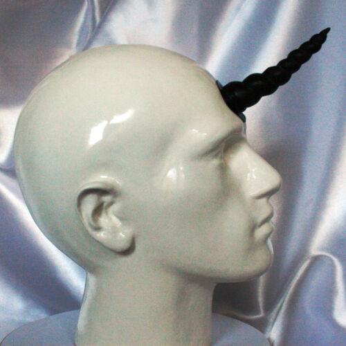 Unicorn Horn -Black latex prosthetic Light Deep /& hollow cosplay Halloween LARP