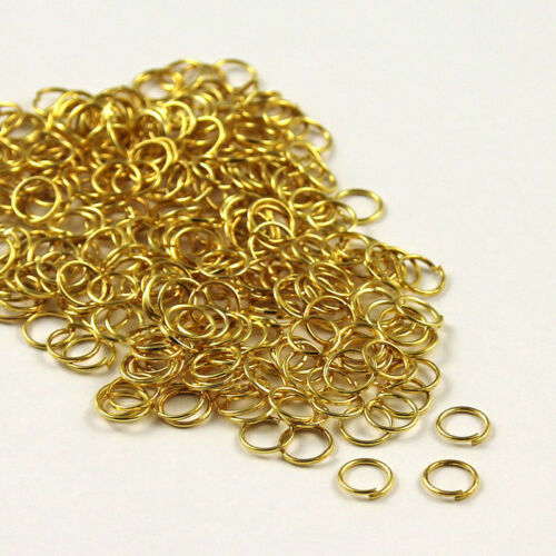 Small Open Oval Jump Rings Clasp Jewelry Making Split Gold Silver Plated