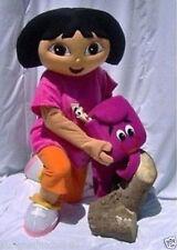 New Rose Red / Orange Explorer Girl Dora mascot Adult costume Fancy Dress
