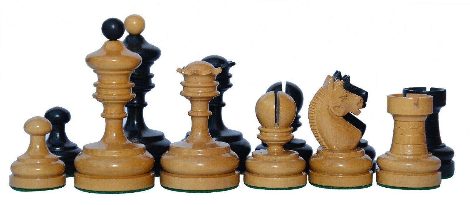 Reproduction Vintage 1930 German Knubbel Chess Pieces in Ebonised Ebonised Ebonised 8579a6