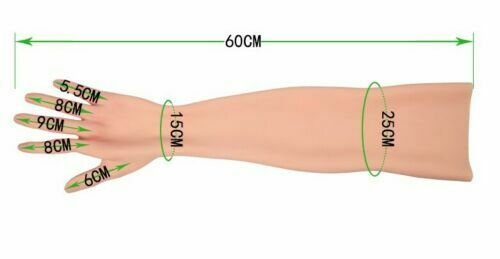 CDS Silicone Gloves Skin Mittens Fake Female Props Crossdressers Arm Sleeve