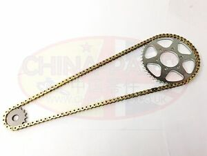 520H Motorcycle Drive Chain Split Link Gold for KTM 125 LC-2