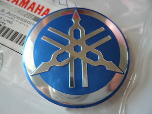 Yamaha Tuning Fork Emblem Retro Tank Decal Blue Silver Uk Stock Ebay