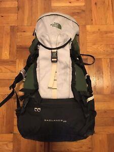 1832d6f3c Details about North Face Badlands 60 Hiking Pack w/ Carbon Fiber Frame -  Northface Backpack