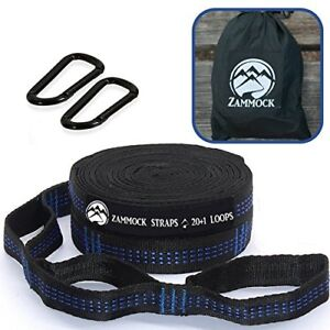 Adjustable-Tree-Hammock-Straps-with-Set-of-Steel-Carabiners-for-Camping-BLUE