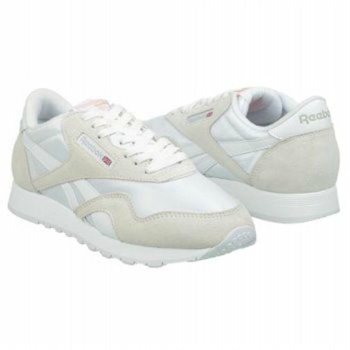 c3cc98d8df9 Reebok Women Shoes Classic Nylon Fashion SNEAKERS White Light Gray Athletic  7.5 for sale online