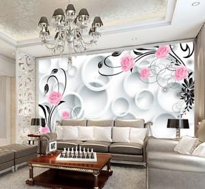 3D whiteer Kreis pinkn 5125 Tapete Tapeten Mauer Foto Familie Tapete Wandgemälde