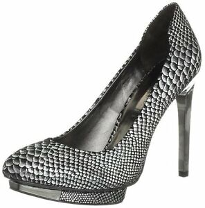 NEW-BCBG-MAX-AZRIA-BLACK-Ma-Willoe-Gunmetal-Pump-F25-SIZE-8-5M
