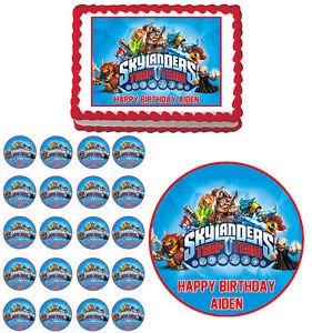 Skylanders Trap Team Edible Birthday Party Cake Cupcake Toppers