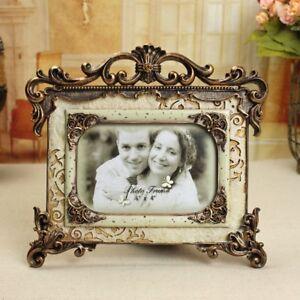 "Vintage Retro Resin 6/""//7/""//8/"" Wedding Picture//Photo Frame Home Bedroom Desk Decor"