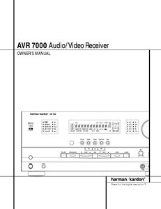 harman kardon avr 7000 av receiver owners manual ebay rh ebay ca Repair Manuals Repair Manuals