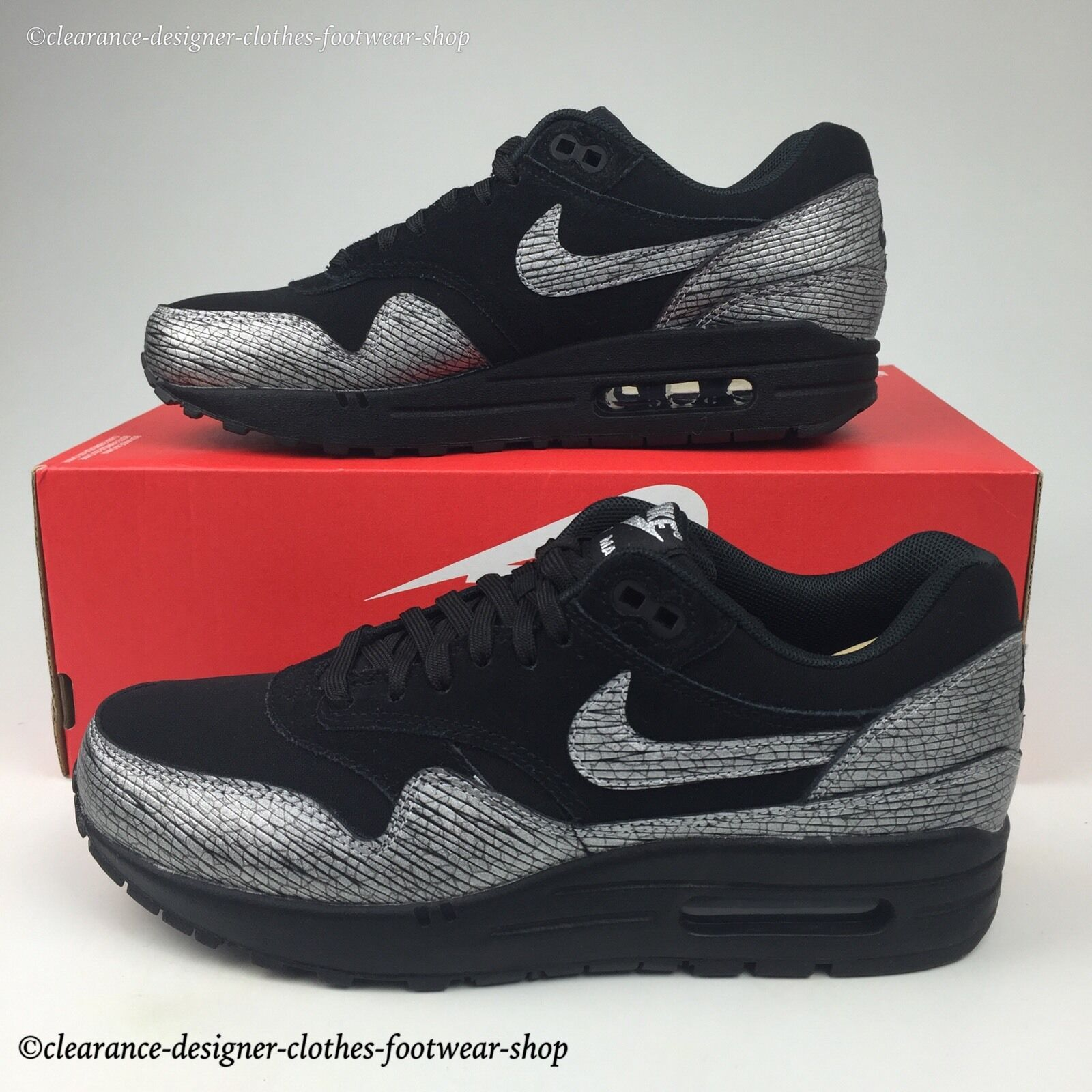 NIKE AIR MAX 1 PREMIUM PREMIUM PREMIUM TRAINERS Femme GIRLS LADIES CASUAL chaussures5  125 f16583