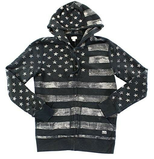 RALPH LAUREN AMERICANA FRENCH TERRY HOODIE / FLAG PRINT