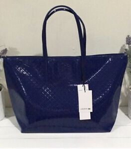 Lacoste-L-12-12-Glossy-Large-Women-s-Shopper-Tote-Peacoat-Blue