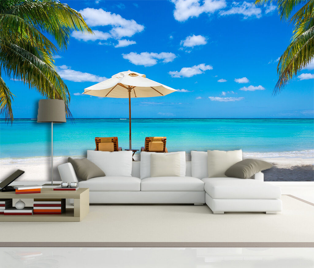 3D Vacation Beach 63 Wall Paper Wall Print Decal Wall Deco Indoor Wall