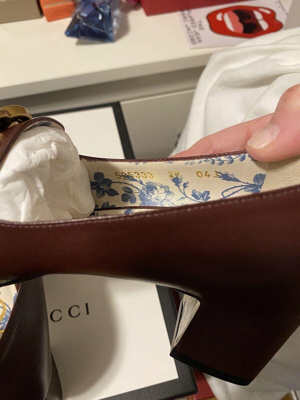 Gucci Malaga Kid Vintage Bordeaux heel loafer 37 … - image 7