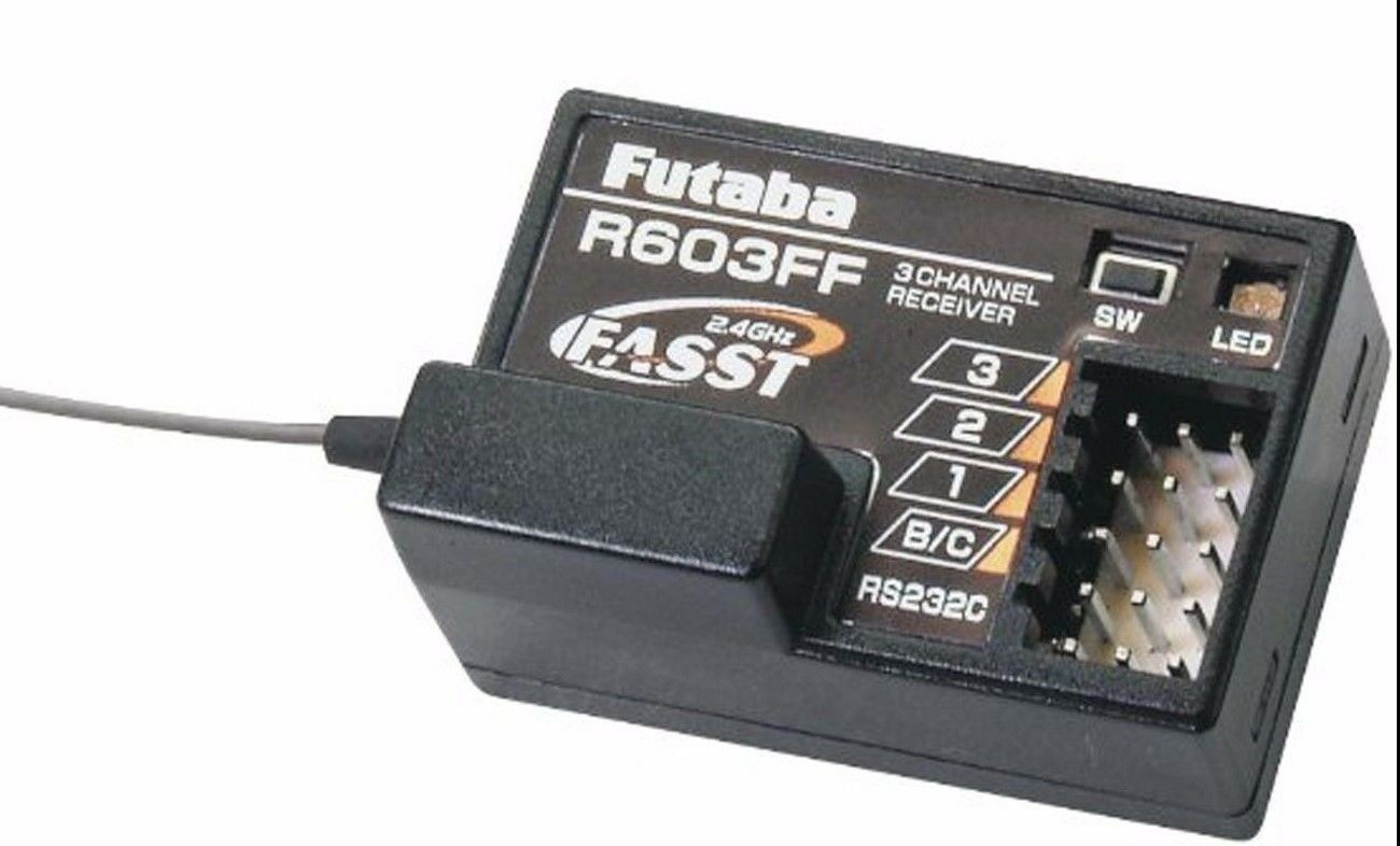 Futaba R603FF 2.4GHz FASST 3Ch  Rx 3VCS 3GR 3PKS 4PKS    FUTL7631  Sito ufficiale