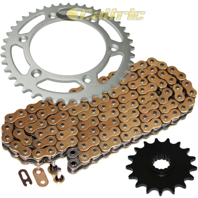 Red O-Ring Drive Chain /& Sprockets Kit Fits KTM 640 LC4 1999-2007