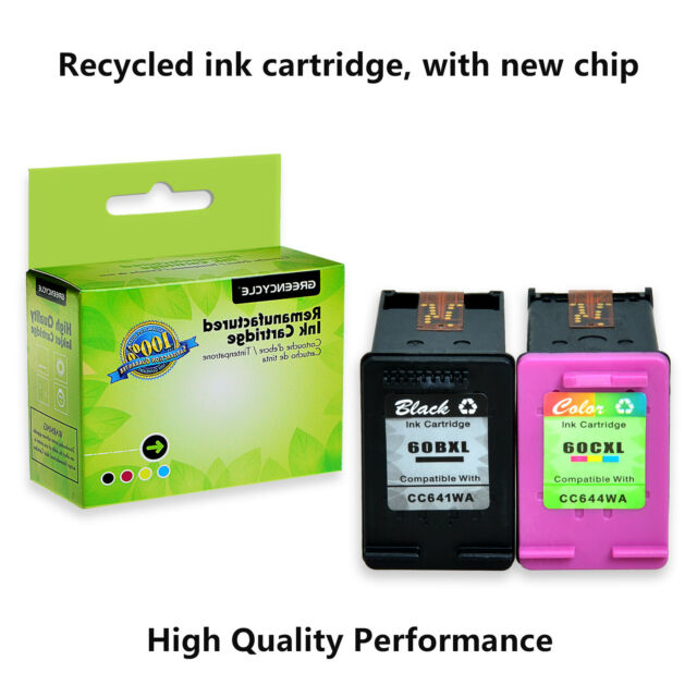 60XL Black & Tri-Color Ink Cartridge Compatible with HP ...