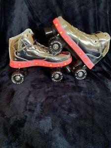 Chicago Skates Silver Pulse Light-up Roller Skates