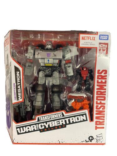"""Transformers la guerre pour Cybertron Netflix 7/"""" Voyager Decepticon Megatron 3-Pack NEUF"""