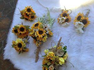 Wedding flowers bridal bouquet decorations sunflowers Daisy rose | eBay