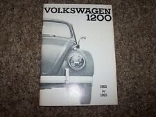 1960 Volkswagen VW Beetle 1200 Owner User Guide Manual 1961 1962 1963 1964 1965