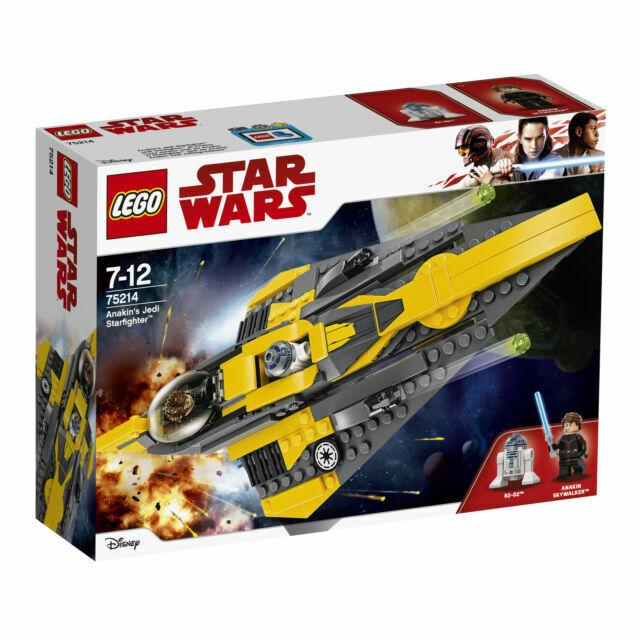 INSTOCK LEGO Star Wars Anakin/'s Jedi Starfighter 75214 Includes 2 Minifigures