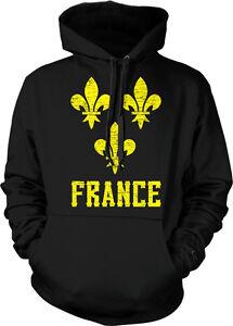 8c07e8e94553e9 Details about Fleur-de-lys French Pride France Emblem France Moderne Hoodie  Pullover