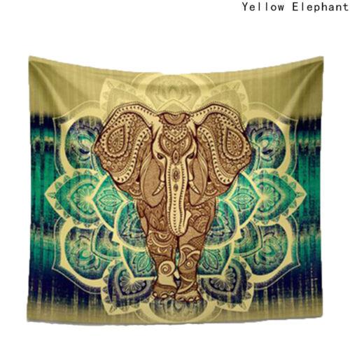 Hippie éléphant Bohème Mandala Tapestry Wall Hanging imprimé décoration d/'intérieur