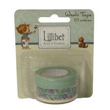 Hermoso Lillibet Washi Tape - Azules para tarjetas y manualidades
