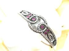 Turkish Ottoman Sultan Sterling silver base Women Ruby zircon Bracelet JW010