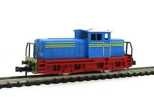 Minitrix-N-12066-2066-Industrie-Diesellokomotive-blau-rot-OVP-5454B