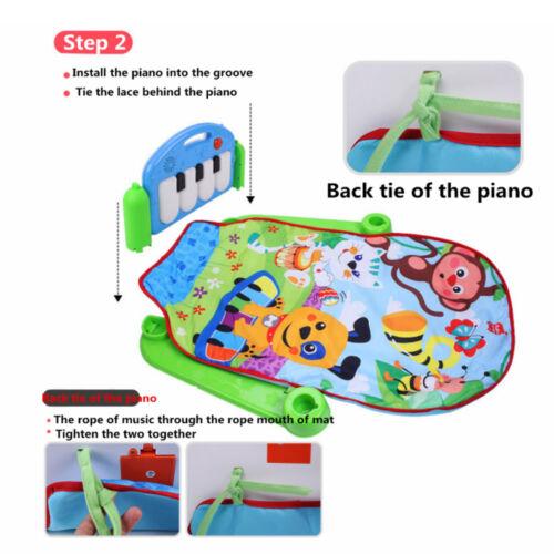 3in1 Spielmatte für Baby Krabbeldecke Spielmöglichkeiten Spieldecke Musik Kinder