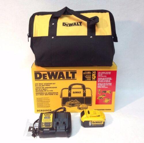 "DEWALT DCB205CK 20V MAX 5.0Ah Li-Ion Battery Charger 15"" Bag Cordless Kit DCB205"
