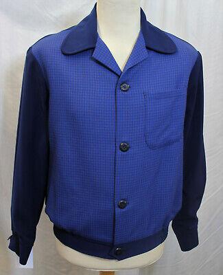 1950s Mens Blouson Ricky Casual Sports Gab Style Jacket Rockabilly RnR Rockin