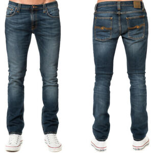 neu-Nudie-Herren-Slim-Skinny-Fit-Roehren-Jeans-Tube-Tom-Blue-Nights