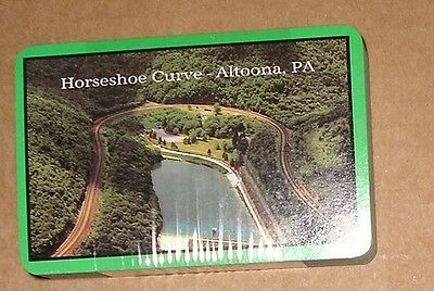 Vtg Sealed Deck Playing Cards Photo Horseshoe Curve Altoona Pa Made in Honk Kong