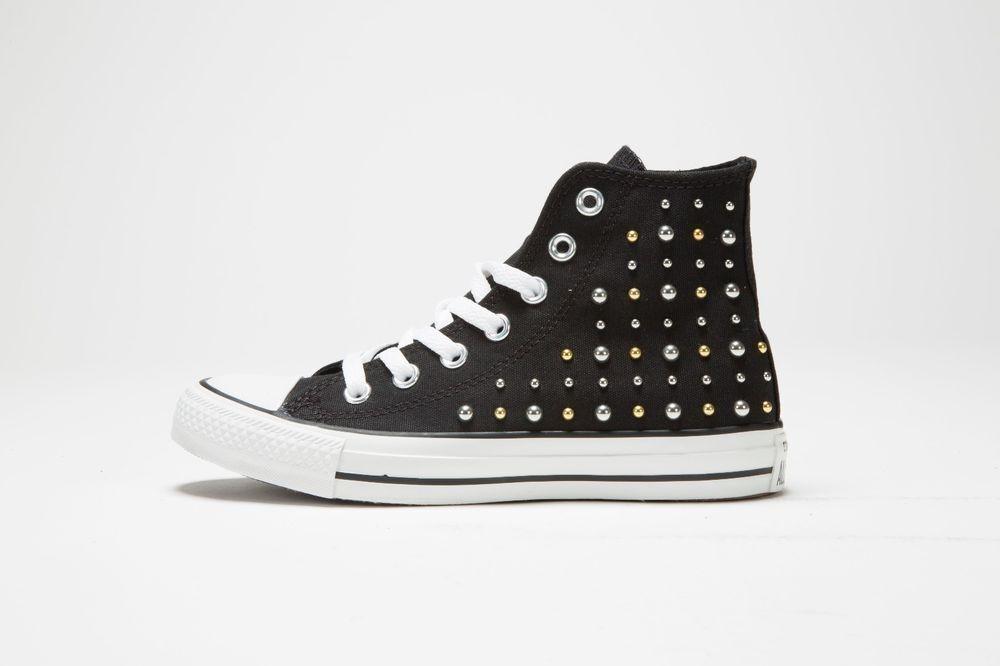 Converse Converse Converse Womens Chuck Taylor All Star Hi Studs Black Sneaker 544881F 668a43