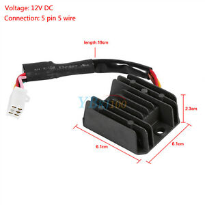 universal motorcycle voltage regulator rectifier 5 wire 5. Black Bedroom Furniture Sets. Home Design Ideas