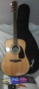 Fender DG8S NAT Dreadnought Acoustic Guitar w/ Gig Bag ++