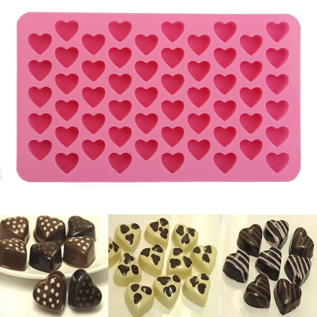 55-Hearts Silicone Ice Cube Chocolate Cake Cookie Cupcake Soap Molds Mould Tool